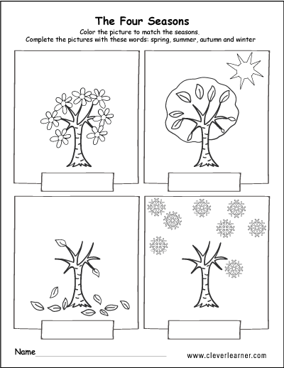 Pictures Seasons Worksheets - Toribeedesign